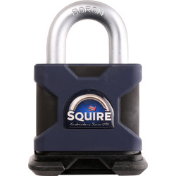 Squire Squire Stronghold Solid Steel Padlock 50 x 10 x 26mm - 89931 - from Toolstation