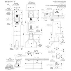 Coburn Straightaway 100 One Door System