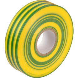 Insulation Tape Green/Yellow 19mm x 33m - 90060 - from Toolstation