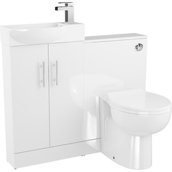 Cassellie 2 Door Slimline Bathroom Unit Gloss White - 90092 - from Toolstation