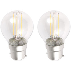 Meridian Lighting LED Filament Globe Lamp 4W BC (B22d) 460lm - 90146 - from Toolstation
