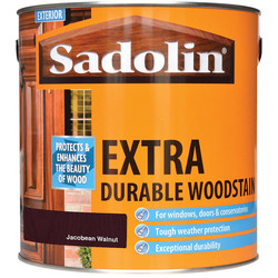 Sadolin Sadolin Extra Durable Wood Stain 2.5L Jacobean Walnut - 90156 - from Toolstation