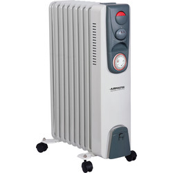 Airmaster Oil Radiator With 24hr Timer 2kW - 90196 - from Toolstation