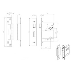 Eurospec 5 Lever British Standard Sashlock