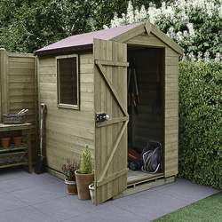 Forest Forest Garden Tongue and Groove Pressure Treated Apex Shed 6' x 4' - 90222 - from Toolstation