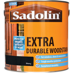 Sadolin Sadolin Extra Durable Wood Stain 2.5L Ebony - 90242 - from Toolstation