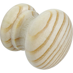 Unbranded Round Pine Knob 40mm - 90325 - from Toolstation
