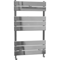 Cassellie Malham Straight Designer Radiator 840 x 500mm Chrome 1099Btu - 90377 - from Toolstation
