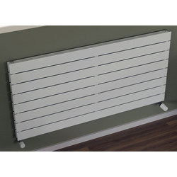 Ximax Ximax Oxford Slim Duo Horizontal Designer Radiator 595 x 800mm 2585Btu White - 90394 - from Toolstation