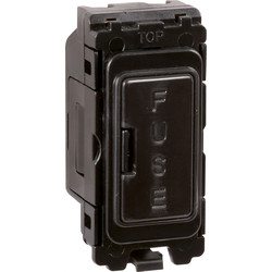 Wessex Wiring Wessex Grid Switch Ancillaries Black Fuse Holder - 90399 - from Toolstation