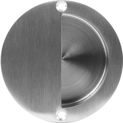Satin Stainless Steel Circular Flush Pull Handle 90mm - 90505 - from Toolstation