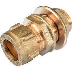 "Conex Banninger Conex Extended Male Straight Connector with Back Nut 22mm x 3/4"" - 90519 - from Toolstation"
