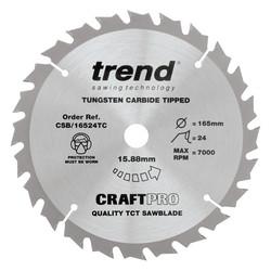Trend T18S/CS165B 18V Cordless Brushless 165mm Circular Saw