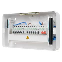 Schneider Easy9 Metal 17th Edition High Integrity Dual RCD 10 MCBs Consumer Unit