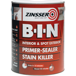 Zinsser Zinsser B-I-N Primer Sealer Paint White 2.5L - 90597 - from Toolstation