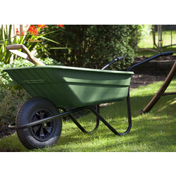 Walsall Wheelbarrow Company Polyproplyene Wheelbarrow with Pneumatic Wheel 90L - 90653 - from Toolstation