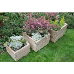 Forest Forest Garden Kendal Square Planter Set of 3 - 90681 - from Toolstation