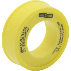 Made4Trade Made4Trade PTFE Tape for Gas 12mm x 5m - 90775 - from Toolstation