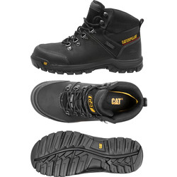 Cat Caterpillar Framework Safety Boots Black Size 10 - 90818 - from Toolstation