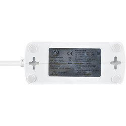 4 Socket Switched Extension Lead + 2 x 3.1A USB