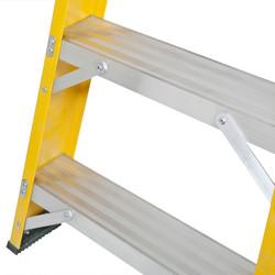 Lyte Heavy Duty Fibreglass Swingback Step Ladder
