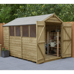 Forest Forest Garden Overlap Pressure Treated Shed - Double Door 10' x 6' - 90925 - from Toolstation