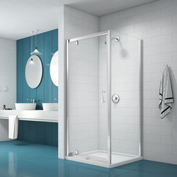 Merlyn Nix Merlyn NIX Pivot Shower Enclosure Door and Side Panel 900 x 900mm - 90947 - from Toolstation
