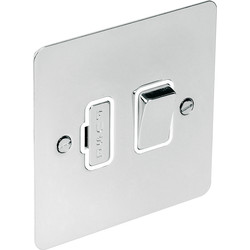Flat Plate Polished Chrome Fused Spur 13A Switched - 90974 - from Toolstation
