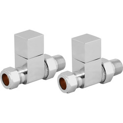 Reina Loge Chrome Valve Straight - 91017 - from Toolstation