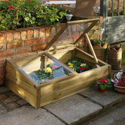 Forest Forest Garden Large Timber Cold Frame 38cm (h) x 109cm (w) x 63cm (d) - 91034 - from Toolstation