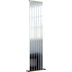 Ximax Ximax Oxford Single Designer Radiator 1800 x 410mm 2704Btu Chrome - 91045 - from Toolstation