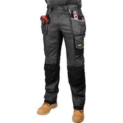"Snickers Workwear Snickers 3212 DuraTwill Holster Pocket Trousers 33"" R (048) Grey - 91094 - from Toolstation"