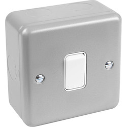 MK MK Metal Clad 10A Switch 1 Gang 2 Way - 91116 - from Toolstation