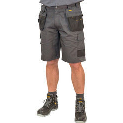"DeWalt DeWalt Cheverley Shorts 34"" Grey/Black - 91125 - from Toolstation"