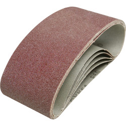 Toolpak Cloth Sanding Belt 75 x 457mm 80 Grit - 91168 - from Toolstation