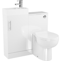 Cassellie Single Door Cube Bathroom Unit Gloss White - 91173 - from Toolstation