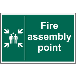 Fire Safety Sign Fire Assembly Point 200x300 - 91192 - from Toolstation