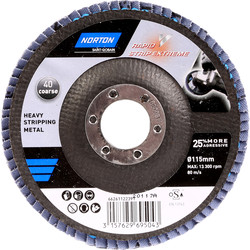 Norton Norton Rapid Strip Metal Abrasive Disc 115mm - 91203 - from Toolstation