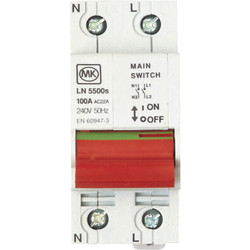 MK MK Incomers 100A DP Switch - 91210 - from Toolstation
