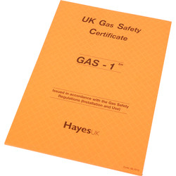 Report Pads Gas 1 Safety Certificates - 91251 - from Toolstation