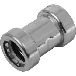 Pegler Yorkshire Pegler Yorkshire Tectite Sprint Chrome Push-Fit Straight Coupler 15mm - 91277 - from Toolstation