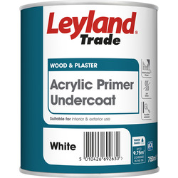 Leyland Trade Leyland Trade Acrylic Primer Undercoat Paint White 750ml - 91298 - from Toolstation