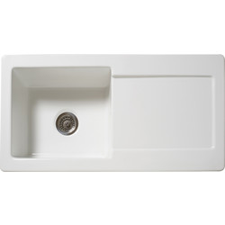 Reginox Reginox Single Bowl Ceramic Kitchen Sink & Drainer White - 91349 - from Toolstation