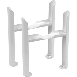Column Radiator Feet White 2 Column - 91411 - from Toolstation