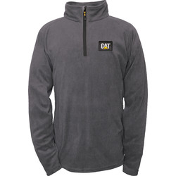 CAT Caterpillar Half Zip Micro Fleece X Large Graphite - 91449 - from Toolstation