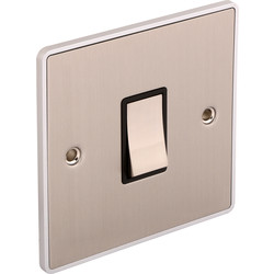 Urban Edge Urban Edge Brushed Chrome Switch 1 Gang Intermediate - 91466 - from Toolstation