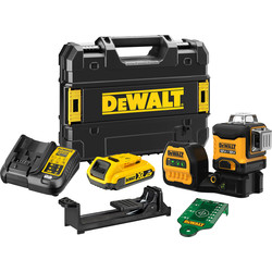 DeWalt DeWalt 18V 360 Multiline Laser Green DCE089D1G18 - 91470 - from Toolstation