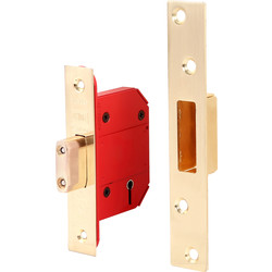 Union BS 5 Lever Mortice Deadlock 64mm Brass - 91629 - from Toolstation