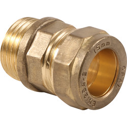 "Made4Trade Made4Trade Compression Coupler Male 15mm x 1/2"" - 91660 - from Toolstation"