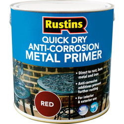 Rustins Quick Dry Anti Corrosion Metal Primer Red 2.5L - 91687 - from Toolstation